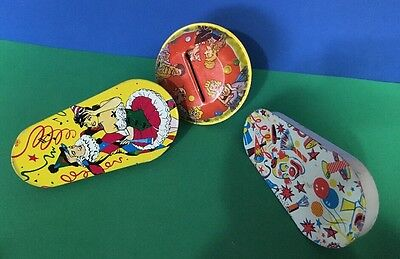 3 Vintage  New Years Eve Party Noise Makers