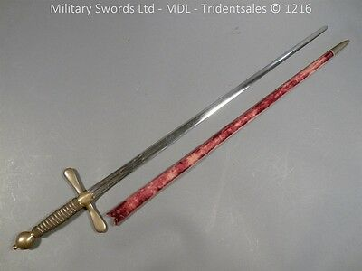 English 18th Century Robe Sword with Scabbard