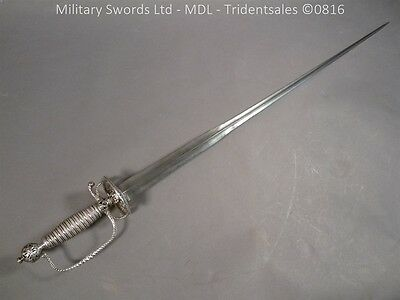 Silver Hilted English Sword c 1750