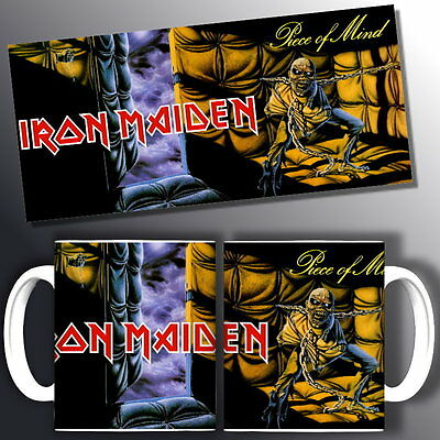 tazza mug music IRON MAIDEN piece of mind, rock metal scodella ceramica