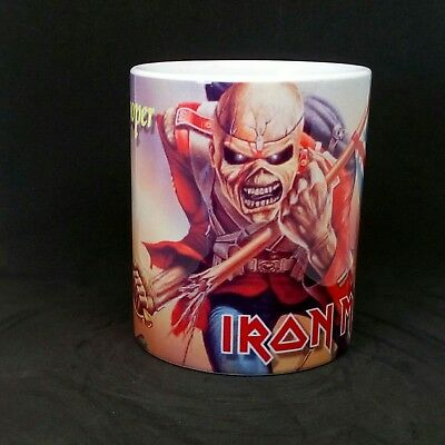 tazza mug music IRON MAIDEN the trooper, rock metal scodella ceramica