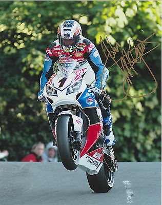 JOHN McGUINNESS ISLE OF MAN TT GENUINE SIGNED PHOTO *CERTIFICATE OF AUTHENTICITY