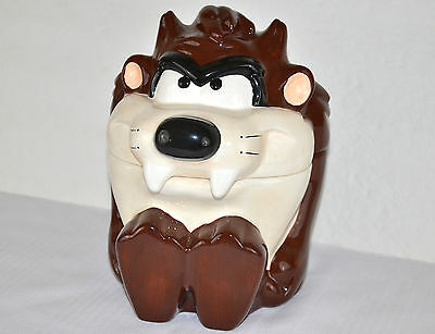 """Warner Brothers TAZ Cookie Jar 10"""" Tall never used only displayed free ship"""
