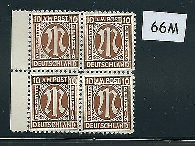 Mint stamp block #66M / PF10 / 1945 - 1946 / Allied Military Government / A.M.G.