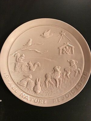 Frankoma Plate 1978 All Nature Rejoiced Signed