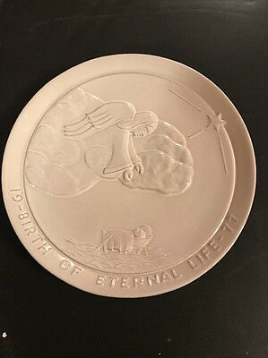 Frankoma Plate 1977 Birth Of Eternal Life Signed