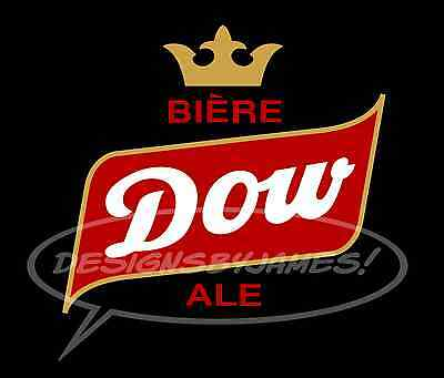 Vintage Dow Ale Beer Logo Iron On Transfer For Black Shirts & Garments