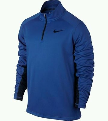 NWT Nike Men's Therma-Fit KO 1/4 Zip Mock Pullover Size XL Game Royal 715199