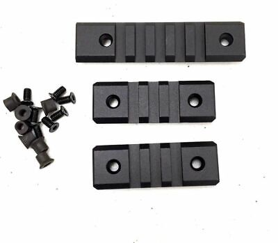 "3 PCS Keymod 5 Slot Picatinny / Weaver Rail Haindgaurd 3.3"" Section Aluminum"