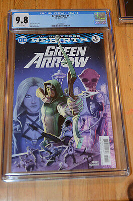 Green Arrow (Rebirth) #1 (1st, first)) CGC 9.8 NM/MT, White, top census!