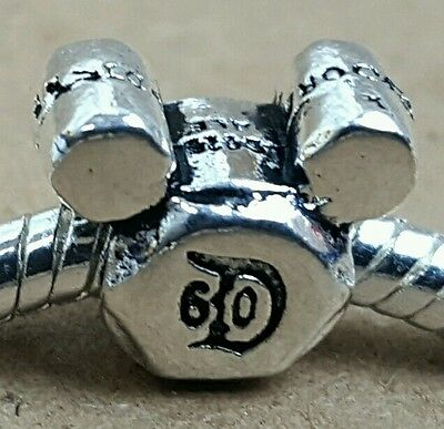 Disney Parks Exclusive D60 LOGO Mickey Mouse - Silver Plated European Bead Charm