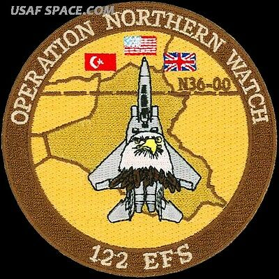 USAF 122nd EXPEDITIONARY FIGHTER SQUADRON - OPERATION NORTHERN WATCH PATCH