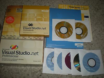 MICROSOFT VISUAL STUDIO .NET PROFESSIONAL VERSION 2003 W/ Product Key