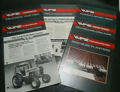 White Farm Equipment and Field Boss Tractor brochures; 9 pieces
