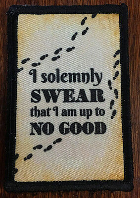 Harry Potter Marauder's Map Morale Patch Funny Tactical Military Army USA Hook