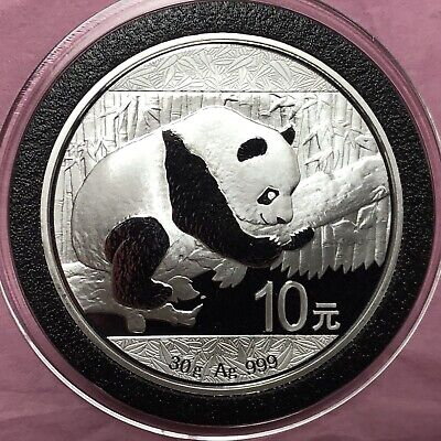 2016 Proof Gem Chinese Panda Bear Collectible Coin 1 Troy Oz .999 Fine Silver