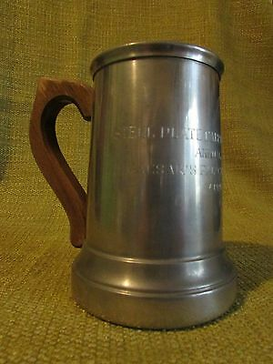 vintage steel plate fabricators beer mug