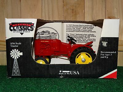 Country Classics 1947 Massey-Harris Pony Tractor Farm Toy 1:16 Scale Diecast