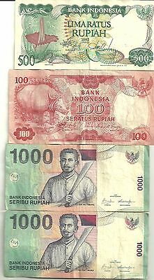 Bank of Indonesia x 4 Notes   (out of date)  keepsake