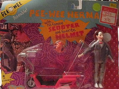 Pee-Wee Herman Doll With His Famous Scooter And Helmet