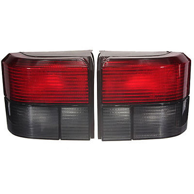 Pair L+R Smoked Red Rear Tail Light Lamp For VW 91-03 Transporter Caravelle T4