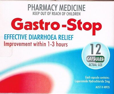 => Price Smash Gastro-Stop Diarrhea / Diarrhoea Relief 12 Capsules, = Imodium