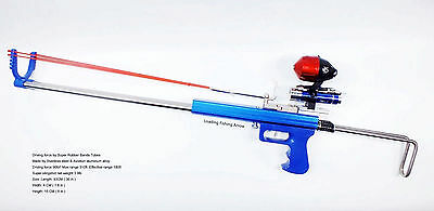 Fishing Hunting Slingshot Rifle - Driving force by Rubber Bands - Fishing Hunter