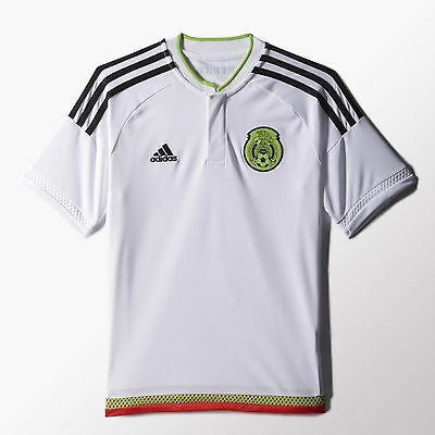 adidas Mexico 2015 Youth Away Jersey White Size Large