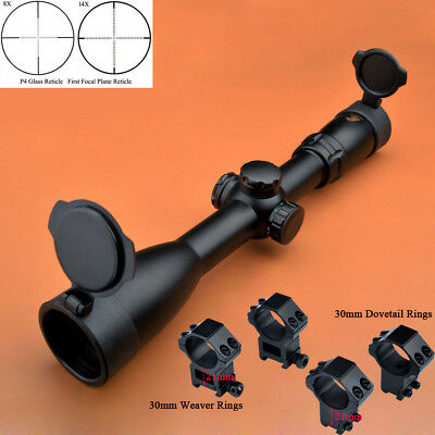 Freeship Eagle 4-14x44 R/G FFP First Focal Plane P4 Glass Reticle Rifle Scopes