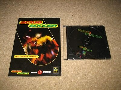 Actua Soccer (With Instructions) Ibm Pc Game 1996 - Windows - Vintage