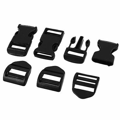 K3901 3Pcs Hard Plastic Luggage Backpack Band Quick Release Buckle Clip