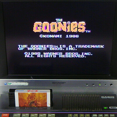 MSX The GOONIES Japan Import Konami RC734 Cart Only Workig Tested Very RARE !