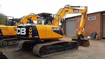 JCB JS220lc DIGGER DECAL STICKER SET WITH SAFTY WARNING
