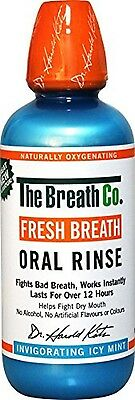 Mouthwash -The Breath Co Fresh Breath Oral Rinse , Bad Breath 500 ml, Icy Mint