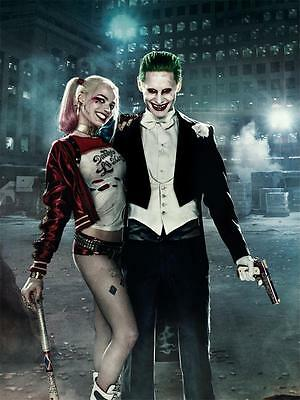 X Suicide Squad Movie the joker V harley quinn Art Silk Decor Poster 24x36""