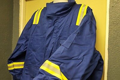 Crude RPS FRC Heavy Work Jacket/ Coat Hi Vis ROYAL BLUE 3XL