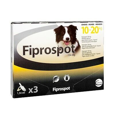 Fiprospot Antiparasitaire Chien 10-20Kg 3 Pipettes