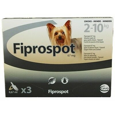 Fiprospot Antiparasitaire Petits Chiens 2-10 Kg 3 Pipettes 0.67Ml Fipronil