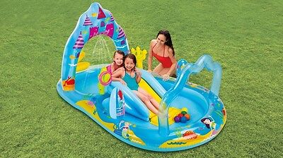 Intex Inflatable Mermaid Kingdom Water Play Centre Kids Summer Outdoor Activity