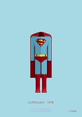 Superman Costume - Officially Licensed Limited Edition Art Print 14X11