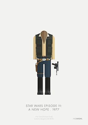Han Solo Star Wars Costume - Officially Licensed Limited Edition Art Print 14X11