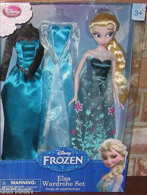 Disney FROZEN Fever ELSA wardrobe set classic doll with extra dresses costume