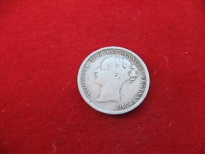 QUEEN VICTORIA 1887 YOUNG HEAD SILVER THREE PENCE Nice coin