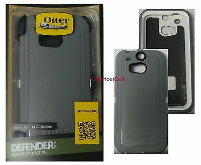 OtterBox Defender Series Case for HTC One M8, Glacier, 77-38921