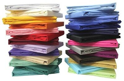 Bed Sheet Set Solid All Colors & Sizes 1000 Thread Count 100% Egyptian Cotton