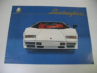 LAMBORGHINI COUNTACH LP 500S  catalogue constructeur