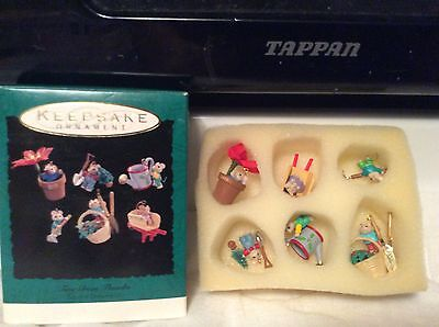 Hallmark 1993 Tiny Green Thumbs Mini Ornaments Set if 6