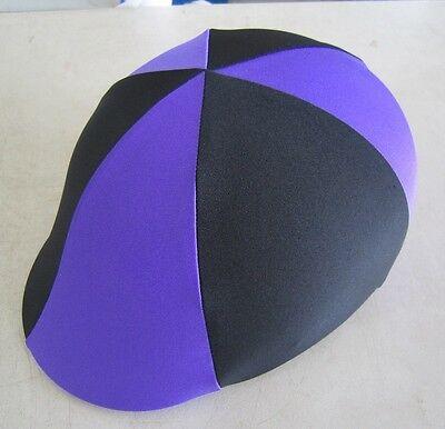 Horse Helmet Cover ALL AUSTRALIAN MADE Purple & Black Any size you need