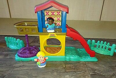 Fisher Price Little People Play Park Playset plus 2  figures