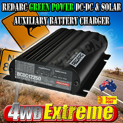 Redarc Bcdc1225D Green Dual Battery Isolator System Dc To Dc Solar Agm & Lithium